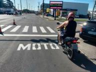 Bolsões de proteção para motociclistas em semáforos