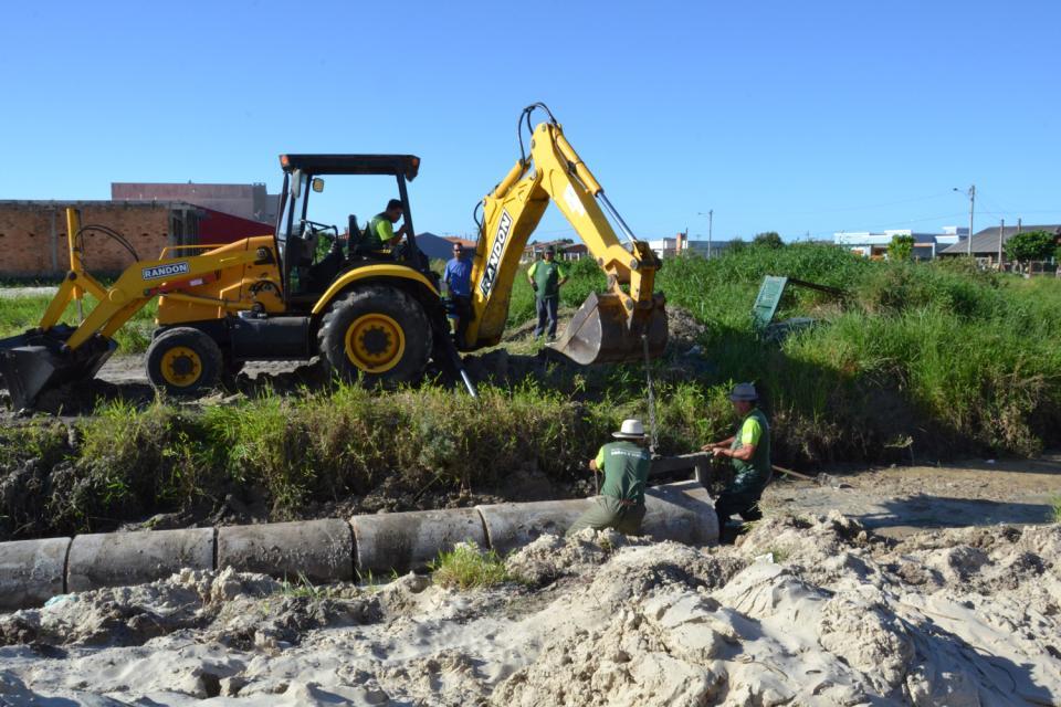 Parceria garante nova obra de canalização no Centro
