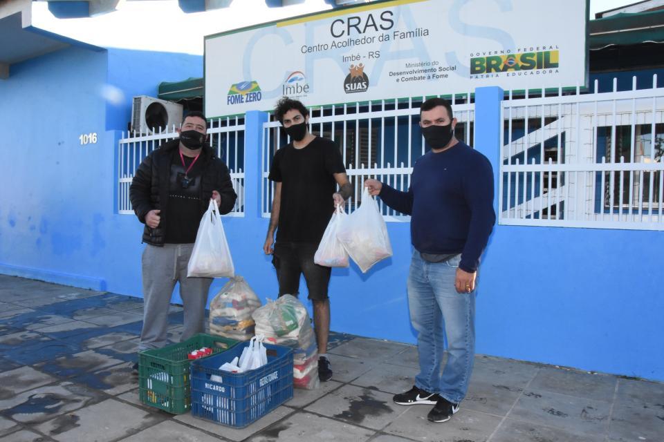 CRAS recebe doação de alimentos