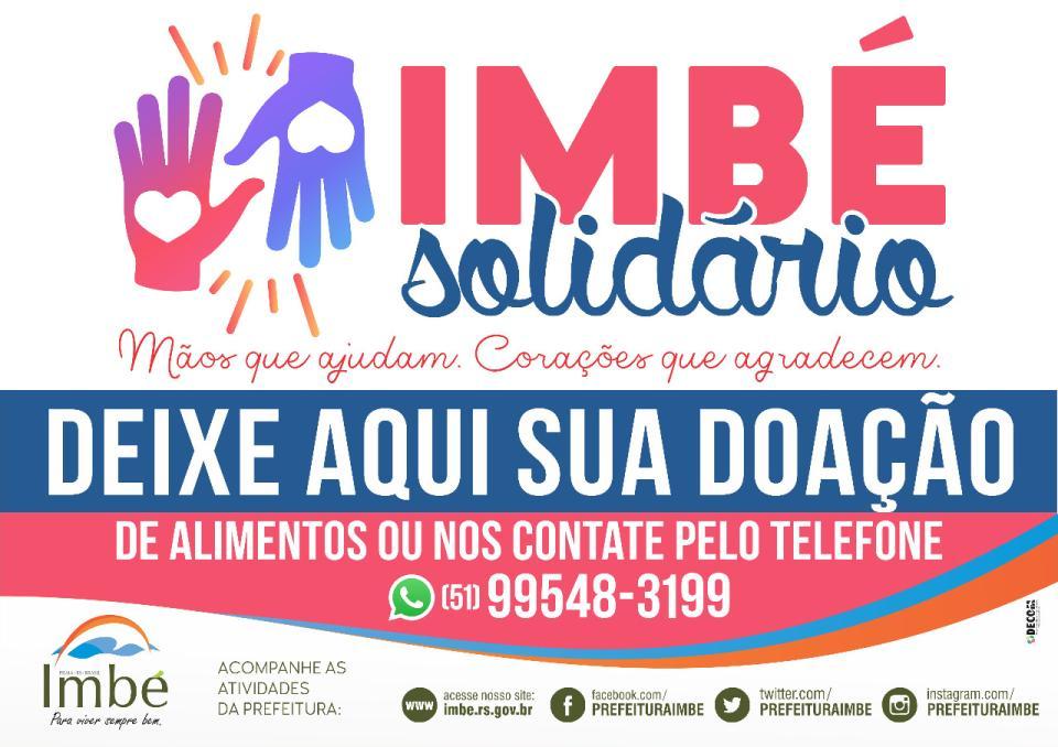 Imbé Solidário arrecada doações para famílias de baixa renda