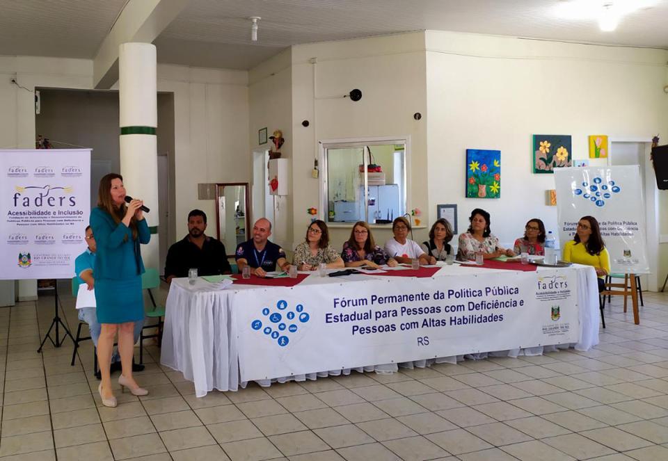 Imbé participou do 176º Fórum Permanente da Política Pública Estadual para PcD e PcAH