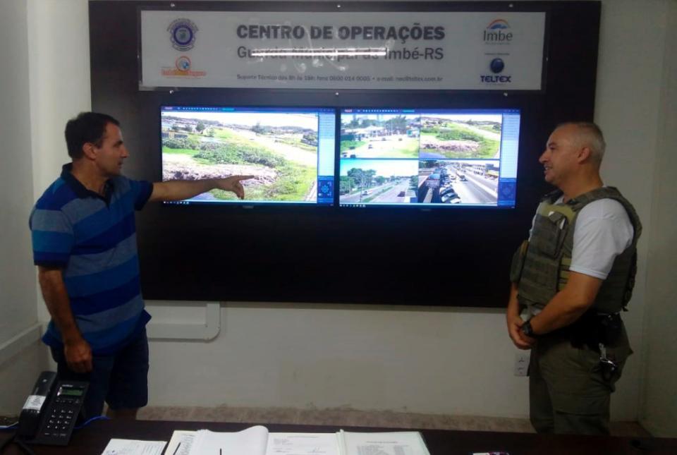 Comandante da Brigada Militar acompanha andamento do Imbé Mais Seguro