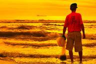 Nascer do Sol - Pesca Beira Mar </br>Foto: </br>Foto: Galileu Oldenburg